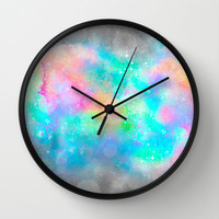 The Soul Becomes Dyed With the Colors of it's Thoughts (Galactic Watercolors) Wall Clock by soaring anchor designs ⚓ | Society6