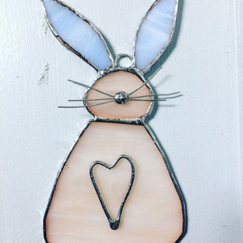 Stained Glass Bunny Suncatcher