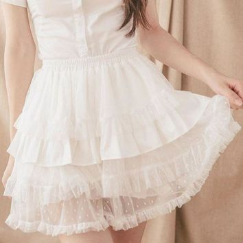 DCCKU62 Black/White Lolita Bloomers Cosplay Skorts by Dolly Delly