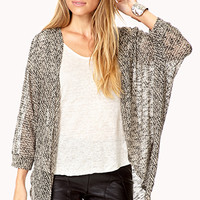 White Noise Draped Cardigan