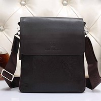 LV Men Leather Office Bag Satchel Shoulder Bag Crossbody