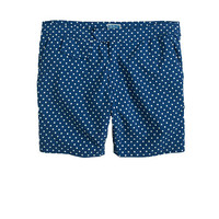 "J.Crew Mens 6.5"" Tab Swim Short In Large Dot"