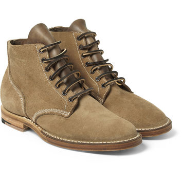 Viberg - Boondocker Suede Lace-Up Boots | MR PORTER