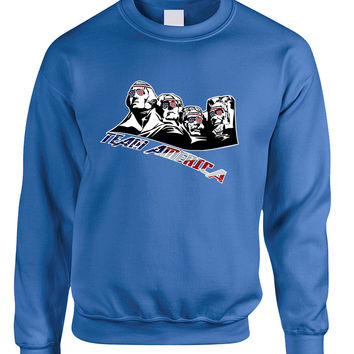 Adult Sweatshirt 4 Fathers American Team 4th Of July USA