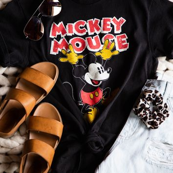 Mickey Mouse Tee, Black