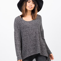 Sweater Chiffon Top