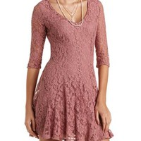 Flared Lace Skater Dress by Charlotte Russe