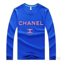 CHANEL Casual Long Sleeve Top Sweater Pullover