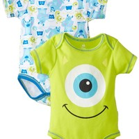 Disney Baby-Boys Newborn Disney's Monster Inc. 2 Pack Bodysuit