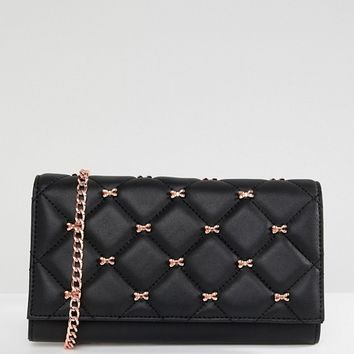 Ted Baker quilted bow cross body purse bag at asos.com