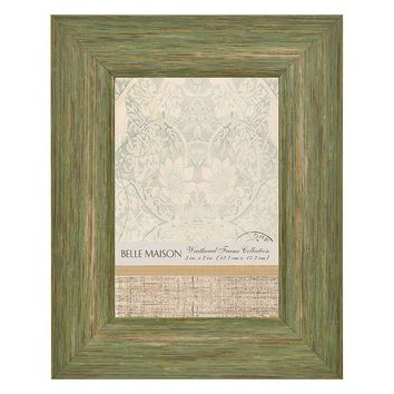 Belle Maison Distressed 5'' x 7'' Frame (Green)