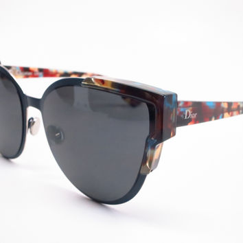 Dior Wildly Dior P7NE5 Multi-Color Havana Blue Sunglasses