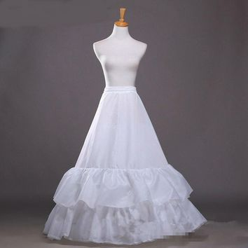 A-line petticoats Two layer slip A line wedding petticoat para