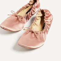 SOFT SATEEN BALLERINAS DETAILS