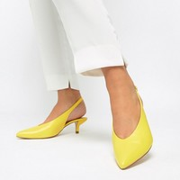Coco Wren Wide Fit Pointed Kitten Heels at asos.com