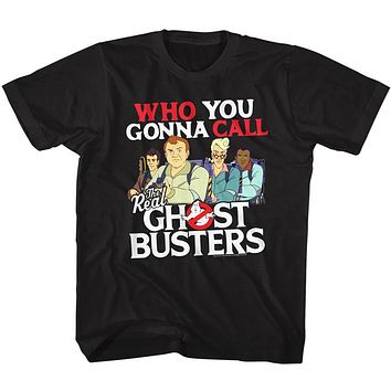 The Real Ghostbusters Toddler T-Shirt Who You Gonna Call Black Tee