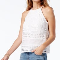 INC International Concepts Crocheted Lace Top, Only at Macy's - Women - Macy's