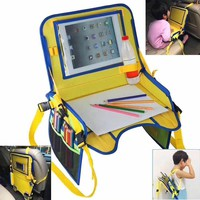 Waterproof Car Seat Tray Kids Baby Stroller Accessories Toddler Car Seat Portable Food Snack Play Travel Tray Table