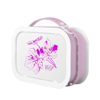 Monogrammed Autumn Leaf Lunch Box