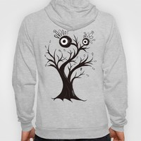 Excited Tree Monster Ink Drawing Hoody by borianagiormova