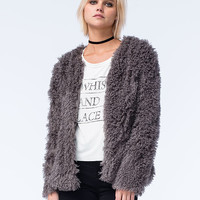 FULL TILT Womens Shag Fur Jacket | Jackets