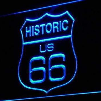 Historic Route 66 Neon Sign (LED)