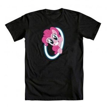 My Little Pony Mens T-Shirt  - Pinkie Pie Portal With Front & Back
