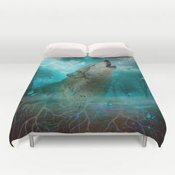 I'll See You In My Dreams (Cry of the Wolf) Duvet Cover by soaring anchor designs ⚓ | Society6