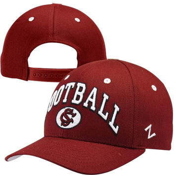 Zephyr South Carolina Gamecocks Football Team Color Adjustable Hat - Garnet