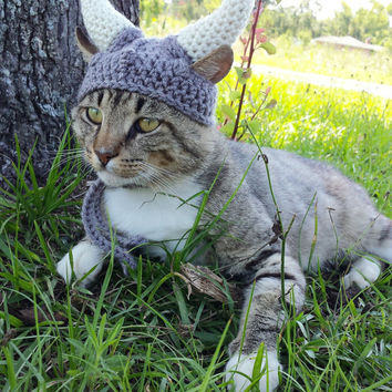 Viking Helmet for Cats - Viking Cat Hat - Viking Costume for Cats - Viking Helmet for Dogs - Viking Dog Hat - Viking Dog Costume