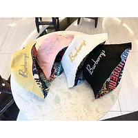 Burberry 2019 new letter embroidery men and women fisherman hat
