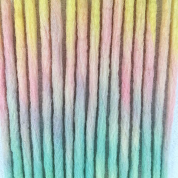 Wool dreadlocks, pastel wool dreadlocks, wool dreads, pastel dreads, pastel goth, DE dreads, synthetic dreadlocks