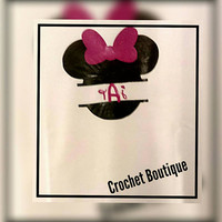 Women's Minnie Monogram Shirt, Monogram Disney Shirt