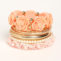 Rose Garden Stacked Bracelet