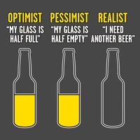 Optimist Pessimist Realist Funny Beer T Shirt Must See  T Shirt  Graphic Shirt Mens Shirt Ladies T Shirt Great Gift Shirt