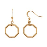 SONOMA life + style Octagon Drop Earrings (Grey)