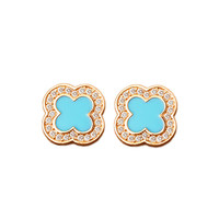 Leaf Hot Sale Accessory Alloy Diamonds Earrings [10857810191]