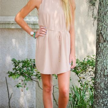 LITTLE TAUPE DRESS