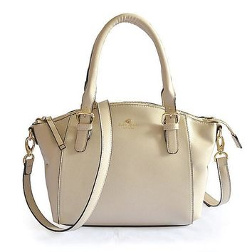 Kate Spade Lady Classic Shopping Leather Tote Handbag Shoulder Bag Color Off White