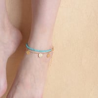 Shiny Gift Jewelry Cute Sexy New Arrival Ladies Accessory Stylish Vintage Style Metal Tassels Anklet [6768790471]