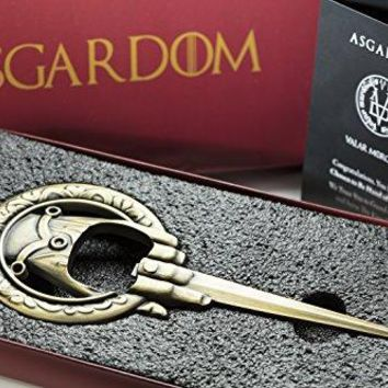 Hand of the King Beer Bottle Opener With Magnet amp Gift Box ndash Fan Merchandise 3in1 Fridge Magnet Letter amp Bottle Opener ndash Perfect Christmas Present For Game of Thrones Fans