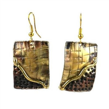 Convergence Brass Earrings - S. Africa