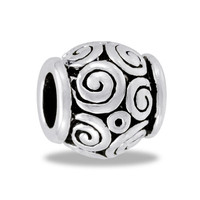DaVinci Beads Black And Silver Large Swirls Jewelry
