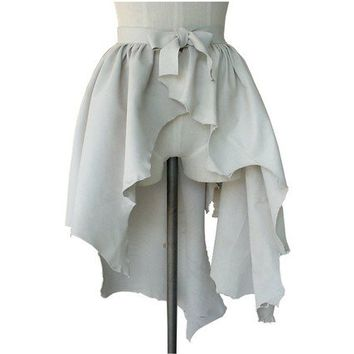 Steampunk Wedding Leather Over Skirt or High Low by ManoBello