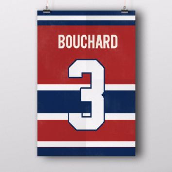 Emile Bouchard Number 3 Jersey