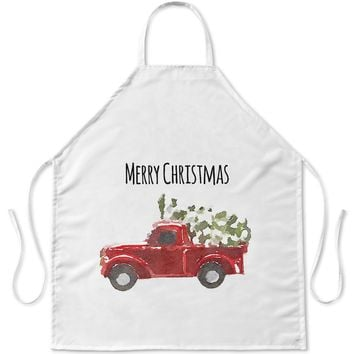 CHRISTMAS TRUCK Apron By Terri Ellis
