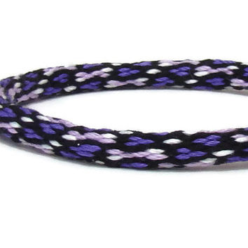 NEW-- 28 strand purple spot pattern friendship kumihimo bracelet with or without purchased magnetic clasp-- your choice
