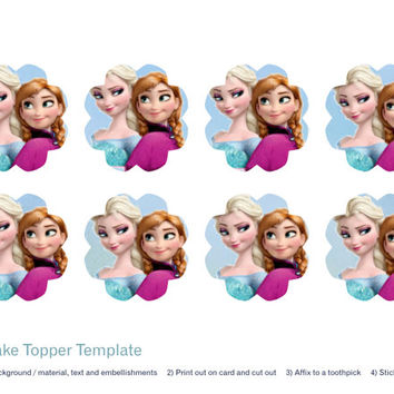 Frozen Cupcake Toppers Printable Mixed
