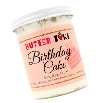 BIRTHDAY CAKE Whipped Body Soap Fluff 8oz