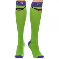 Bio World Ninja Turtle Printed Knee-High Socks
